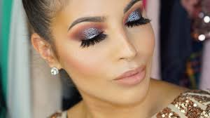 glitter eyeshadow new years eve makeup tutorial