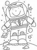 Kleurplaat Astronaut Klaskamer Space Classroom Astronaut Space