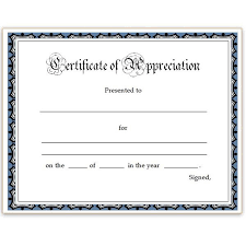 Certificate Of Recognition Template Free Download Template For Certificate Of Appreciation In Microsoft Word Free