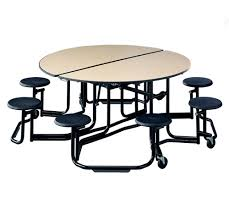 Round school lunch table Fifty Fifty Stool Style Cafeteria Table Todays Classroom Cafeteria Tables Mobile Folding Convertible Stool Seats Round