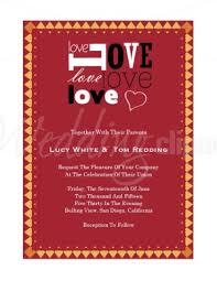 Printable Love Block Valentines Day Wedding Invitation Template