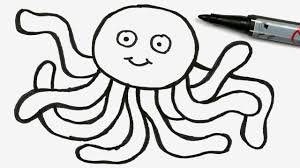 Small Picture How to Draw a Cartoon Octopus Easy Doodle for Girls Boys 56