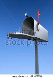 metal mailbox flag. Metal Mailbox Flag Blue Inside Silver Closed Communication Illustration Kit .