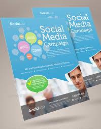 great social media flyer templates psd amp indesign  design  social media marketing flyer