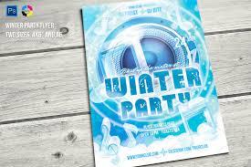 Winter Flyer Template Winter Party Flyer Flyer Templates Creative Market 23