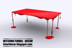 creative red love me table, unusual table design ideas