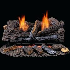 forge propane gas log set in stacked red oak manual vent free logs with remote