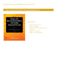 Design With Operational Amplifiers And Analog Integrated Circuits Franco Pdf Pdf Book Free Download Design With Operational Amplifiers