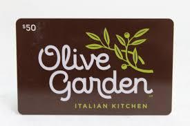 50 olive garden gift card