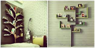 tree shape wall shelves design