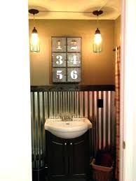 rustic sheet metal corrugated metal bathroom rustic bathroom in garage corrugated sheet metal bathroom sheet metal
