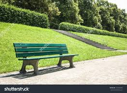 Wooden Park Bench Park Stock Photo 124460020 - Shutterstock