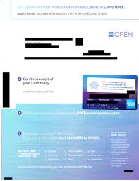American Express Hilton Honors Business Credit Card Welcome Letter