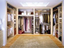 Open Closets Small Spaces Bedroom Walk In Closets Organizers Brown Wooden Flooring Grey