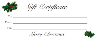Printable Christmas Certificates Altogetherchristmas Com Printable Gift Certificates