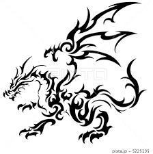 ドラゴン 竜 龍 トライバルのイラスト素材 Pixta