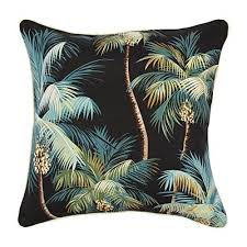 haven palm trees outdoor cushion black