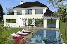 Plan Maison Moderne Piscine DECIMA