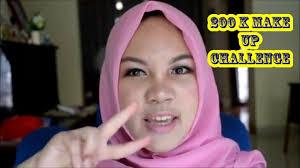 200k make up challenge sweet romantic look bahasa indonesia you