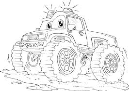 Free Printable Monster Truck Coloring Pages Monster Truck Coloring