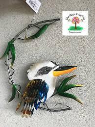28cm metal kookaburra on a branch wall