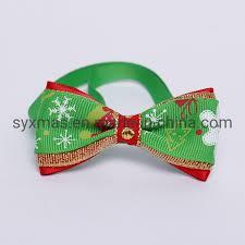 China <b>Christmas</b> Holiday <b>Pet Cat Dog</b> Collar <b>Bow</b> Tie Adjustable ...