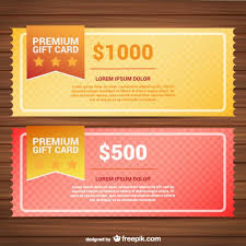 Premium Gift Card Templates Vector Free Download