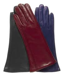 women s cashmere lined leather gloves with decorative side stitching