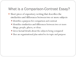 Compare Contrast Essay Ppt Comparison Contrast Essay Powerpoint Presentation Id
