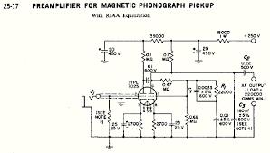 valve phono preamplifier rca circuit