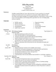 10 Years Experience Software Engineer Resume Free Download Qtp Test