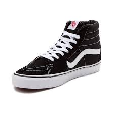 vans hi tops. alternate view: vans sk8 hi skate shoe - black/white alt3 tops journeys.com