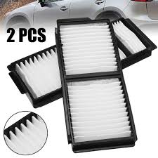 Automobiles Filters Set <b>2pcs</b> White Cabin Air Filter For <b>Mazda 3</b> ...