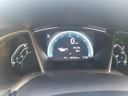Honda Civic Oil Warning Light Oil Life At 40 And A1 Maintenance Code 2016 Honda Civic