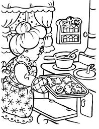 Kleurennu Oma Bakt Kerstkoekjes Lekkere Kleurplaten