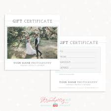 clic photography gift certificate template