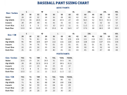 American Female Size Chart Sizing Charts American Football Equipment Baseball Softball