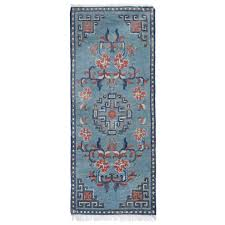 vintage rugs blue chinese carpet runner for