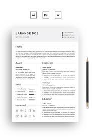 Jarange Doe Clean Resume Template 68402
