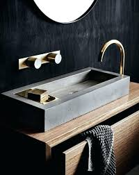 concrete vanity sink concrete sink vanity a wooden vanity with a concrete sink and brass details look chic concrete vanity sink diy concrete vanity sink