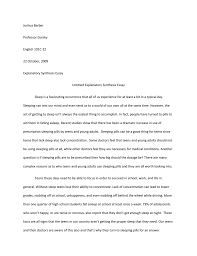 Explanatory Synthesis Essay Explanatory Synthesis Essay
