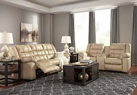 Leather Reclining Living Room Sets Brolayne Durablend Beige Reclining Living Room Set Signature