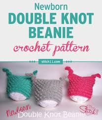 Newborn Crochet Patterns Amazing Newborn Double Knot Beanie Crochet Pattern Stitch48