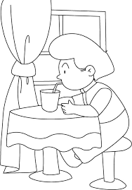 Small Picture Drinking water with a straw coloring pages Download Free