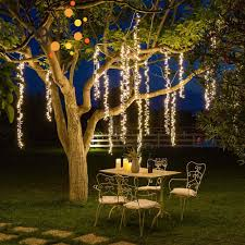 Decorating Outside Tree With Lights Us 9 67 31 Off 2 4m Led Icicle String Lights Christmas Garden Tree Decoration Christmas Fairy Light Garland Outdoor Party Patio Street Decor In