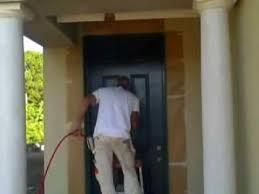 painting a front doorSpray Painting a front door Joe Pullaro Paint Contractor  YouTube