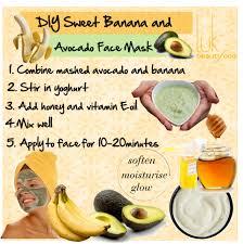 banana and avocado face mask