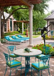 blue green outdoor furniture