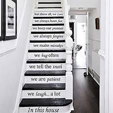 Stairs Quotes Gorgeous Wall Decals Staircase Quotes In This House We Love STAIR CASE
