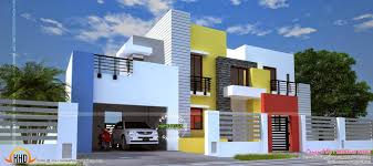 Small Picture Home Design Sq Feet Wide Contemporary Home Kerala Home Design And